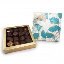 Boîte 16 Chocolats Turquoise